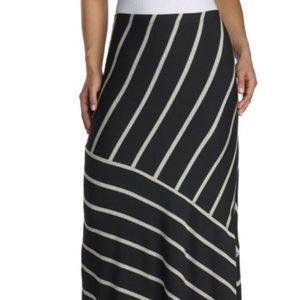 New Matty M Heather Grey Maxi Skirt -L